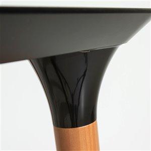 Manhattan Comfort HomeDock TV Stand - 62.99-in x 19.56-in - Black/Cinnamon Brown