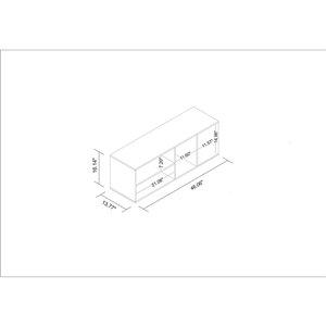 Manhattan Comfort Minetta Floatting Entertainment Center - 46.06-in x 16.14-in - White