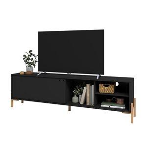 Manhattan Comfort Bowery TV Stand - 72.83-in x 21.02-in - Black/Oak