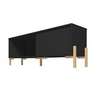 Manhattan Comfort Bowery TV Stand - 55.14-in x 20.27-in - Black/Oak