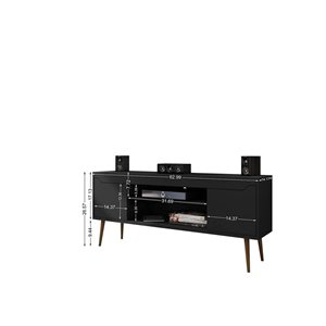 Manhattan Comfort Bradley TV Stand - 62.99-in x 26.57-in - Black