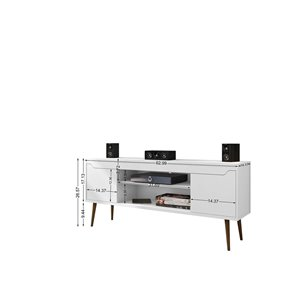 Manhattan Comfort Bradley TV Stand - 62.99-in x 26.57-in - White