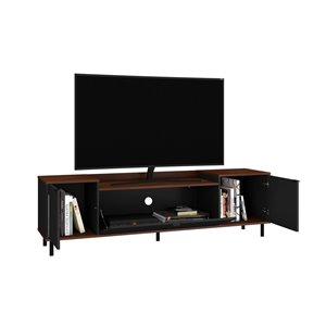 Manhattan Comfort Mosholu TV Stand - 77.04-in x 19.29-in - Black/Brown