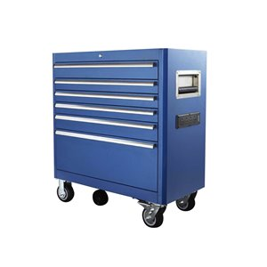 Toolmaster Tool Chest Bottom with 6-Drawer - Blue - 20-in x 41.5-in x 29-in