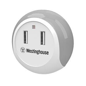 Westinghouse 2 USB Night Light - White