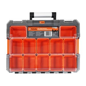 Kubota Tool Tote and Clear Organizer - Orange and Black - 17.25-in x 13-in x 4-in