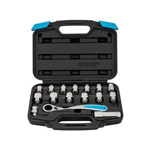 Chanellock Mechanics Tool Set - 16 Pieces - Chrome