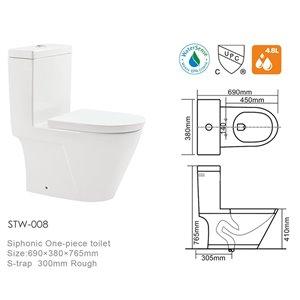 Lukx® Sharp Edges One Piece Toilet