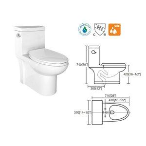 Lukx® Flared One Piece Toilet