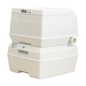 Dock Edge Visa MSD Portable Toilet - 18-L - Grey