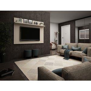 Manhattan Comfort Tribeca TV Panel - 53.94-in - Off-White