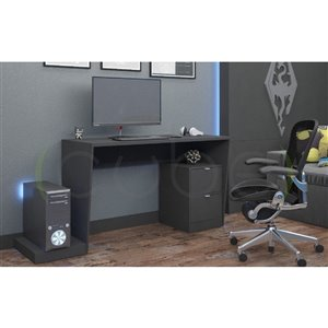 Manhattan Comfort Randalls 1.0 Gamer Desk - 68.11-in - Black