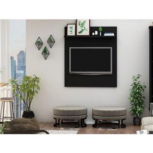 Manhattan Comfort Tribeca TV Panel - 35.43-in - Black
