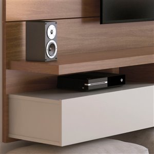 Manhattan Comfort City Floating Entertainment Center - 62.99-in - Maple Cream and Off-White