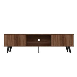 Manhattan Comfort Doyers TV Stand - 78.87-in - Nut Brown