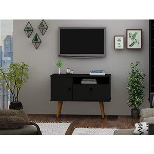 Manhattan Comfort Tribeca TV Stand - 35.43-in - Black