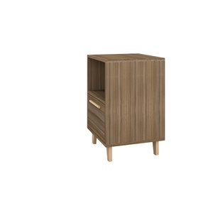 Manhattan Comfort Herald Nightstand - 22.24-in - Oak Brown