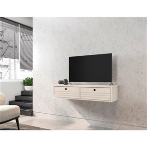 Manhattan Comfort Liberty Floating Entertainment Center - 42.28-in - Off-White