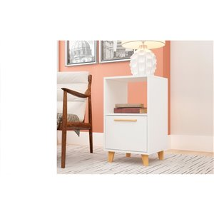 Manhattan Comfort Herald Nightstand - 22.24-in - White