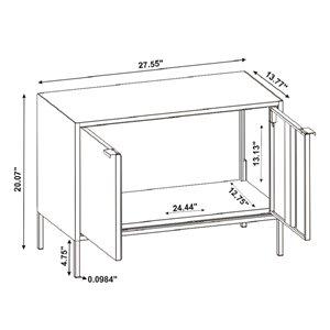Manhattan Comfort Smart TV Stand Cabinet - 27.55-in - White