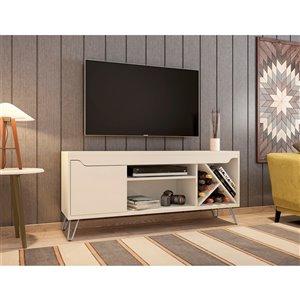Manhattan Comfort Baxter TV Stand - 53.54-in - Off-White