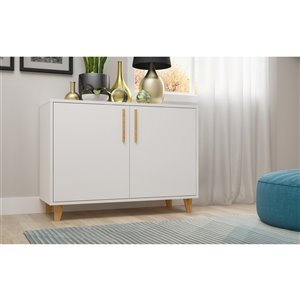Manhattan Comfort Herald Double Side Cabinet - 35.43-in x 25.79-in - White
