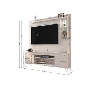 Manhattan Comfort Baxter Freestanding Entertainment Center - 62.99-in - Off-White