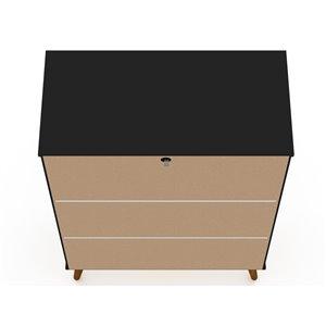 Manhattan Comfort Tribeca Accent Cabinet - 35.43-in x 50-in - Black