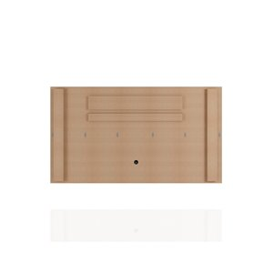 Manhattan Comfort Liberty TV Stand and Panel - 62.99-in - Black