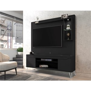 Manhattan Comfort Baxter Freestanding Entertainment Center - 62.99-in - Black
