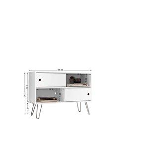 Manhattan Comfort Baxter TV Stand - 35.43-in - White