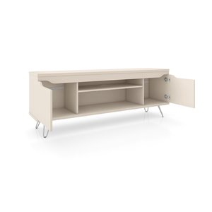 Manhattan Comfort Baxter and Liberty TV Stand and Panel - 62.99-in - Off-White