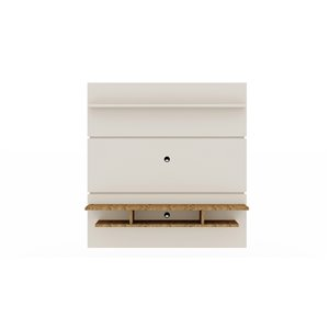 Manhattan Comfort Tribeca Floating Entertainment Center - 62.99-in - Off-White and Natural Brown