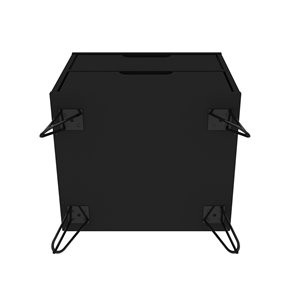 Manhattan Comfort Rockefeller 2.0 Nightstand - 21.65-in - Black