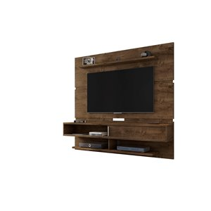 Manhattan Comfort Astor Wall-Mount Entertainment Center - 70.86-in - Rustic Brown