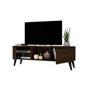 Manhattan Comfort Doyers TV Stand - 53.15-in - Nut Brown