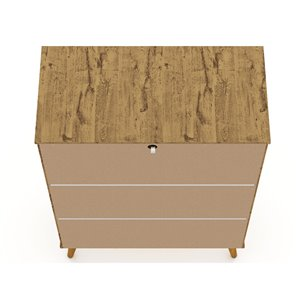 Manhattan Comfort Tribeca Accent Cabinet - 35.43-in x 50-in - Natural Brown