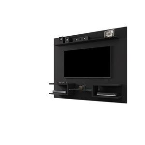 Manhattan Comfort Plaza Floating Entertainment Center - 64.25-in - Black