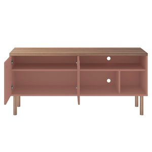 Manhattan Comfort Windsor TV Stand - 53.62-in - Pink and Natural Brown