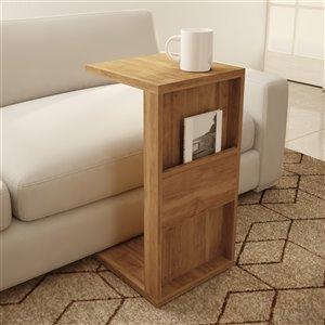 Manhattan Comfort Accent Table Set - Matte Brown - Set of 2