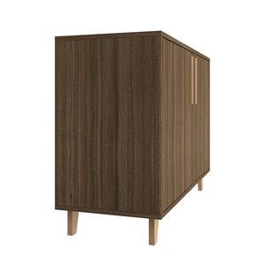 Manhattan Comfort Herald Double Side Cabinet - 35.43-in x 25.79-in - Oak Brown