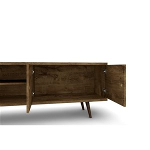 Manhattan Comfort Liberty TV Stand and Panel - 62.99-in - Rustic Brown
