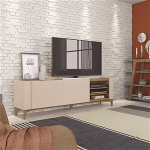 Manhattan Comfort Gowanus TV Stand - 79.92-in - Off-White