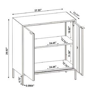 Manhattan Comfort Smart Office Cabinet 27.55-in x 29.92-in - White