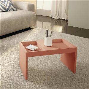Manhattan Comfort Accent Table Set - Matte Pink - Set of 2
