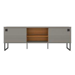 Manhattan Comfort Loft TV Stand - 70.48-in - Grey and Wood
