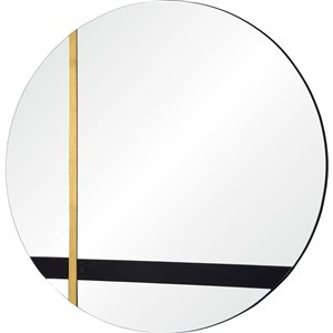 Notre Dame Design Harmer Round Decorative Mirror - 30-in x 30-in