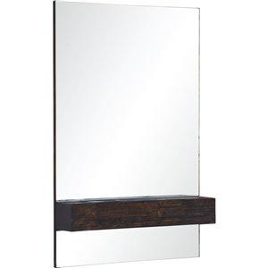 Notre Dame Design Kai Decorative Mirror - 24-in x 36-in - Dark Brown