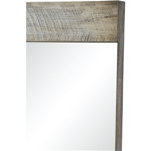 Notre Dame Design Carlingwood Decorative Mirror - 24-in x 36-in - Off-white