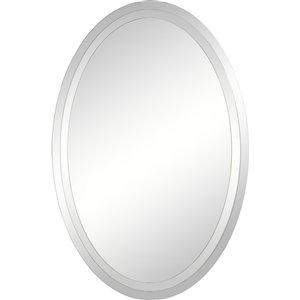 Notre Dame Design Inclusion Oval Decorative Mirror - 24-in x 36-in - Silver
